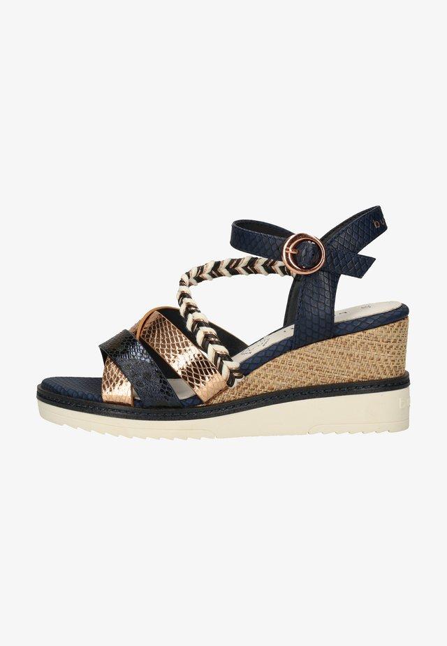 Sandales à plateforme - dark blue, beige