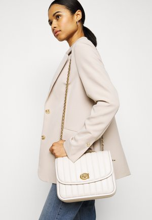 QUILTED MADISON SHOULDER BAG - Torba na ramię - chalk