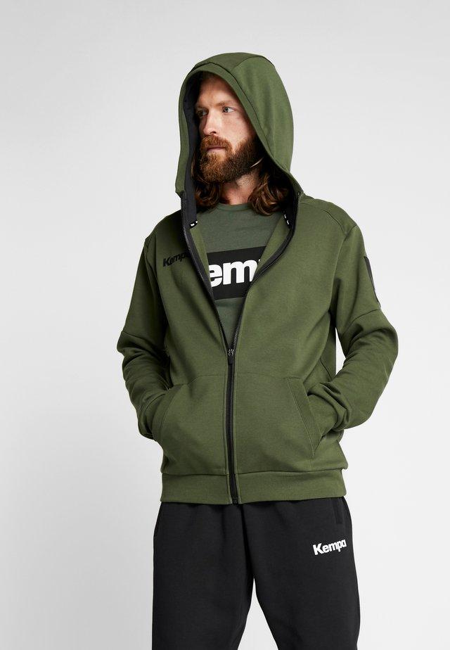 LAGANDA ZIP HOODY - Zip-up hoodie - deep green