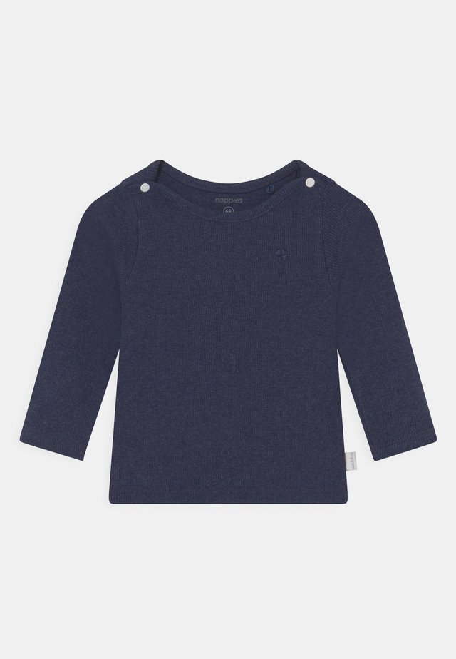 BABY TEE NATAL UNISEX - Long sleeved top - navy melange