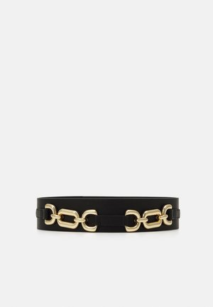 PCNICOLE WAIST BELT - Pásek - black/gold-coloured