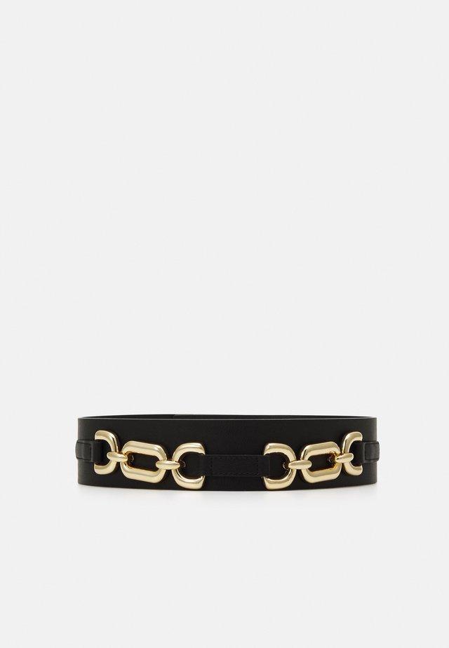 PCNICOLE WAIST BELT - Waist belt - black/gold-coloured