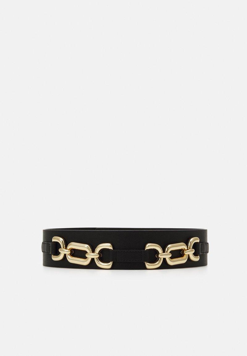 Pieces - PCNICOLE WAIST BELT - Waist belt - black/gold-coloured