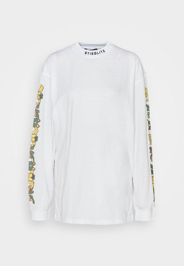 ALAMOSA SKATE SHIRT - Pitkähihainen paita - white