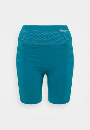 HMLFELICITY SEAMLESS SHORTS - Leggings - mykonos blue