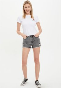 DeFacto - Denim shorts - grey - 1