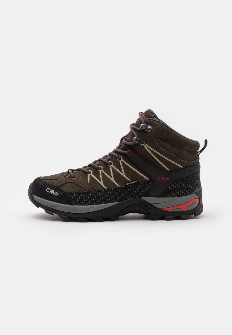 CMP - RIGEL MID TREKKING SHOES WP - Hiking shoes - wood/arena