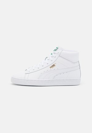 BASKET MID UNISEX - Korkeavartiset tennarit - white