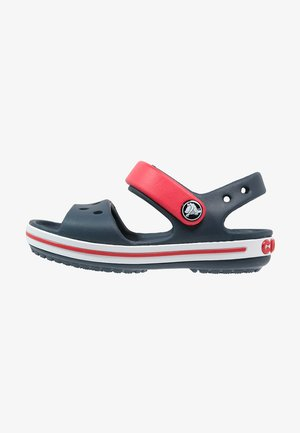 CROCBAND KIDS UNISEX - Sandales de bain - navy/red