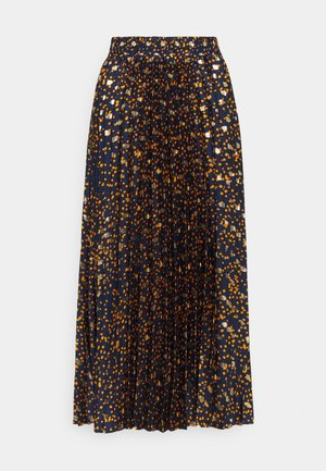 YASSKYRA PLEATED MIDI SKIRT  - A-line skirt - sky captain/gold dots