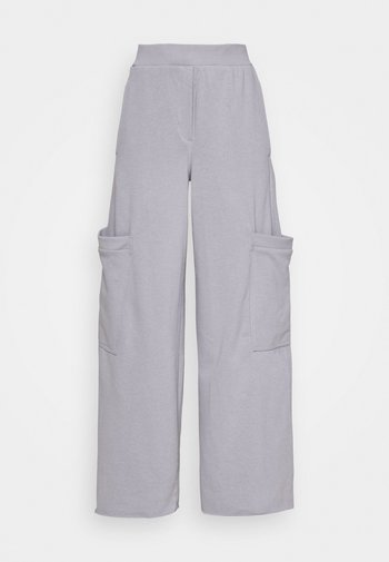 ALICE - Tracksuit bottoms - steel grey solid
