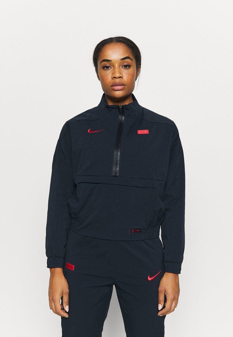 Nike Performance - FRANKREICH MIDLAYER - Klubbklær - dark obsidian/university red