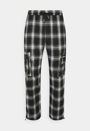 TARTAN - Cargo trousers - black