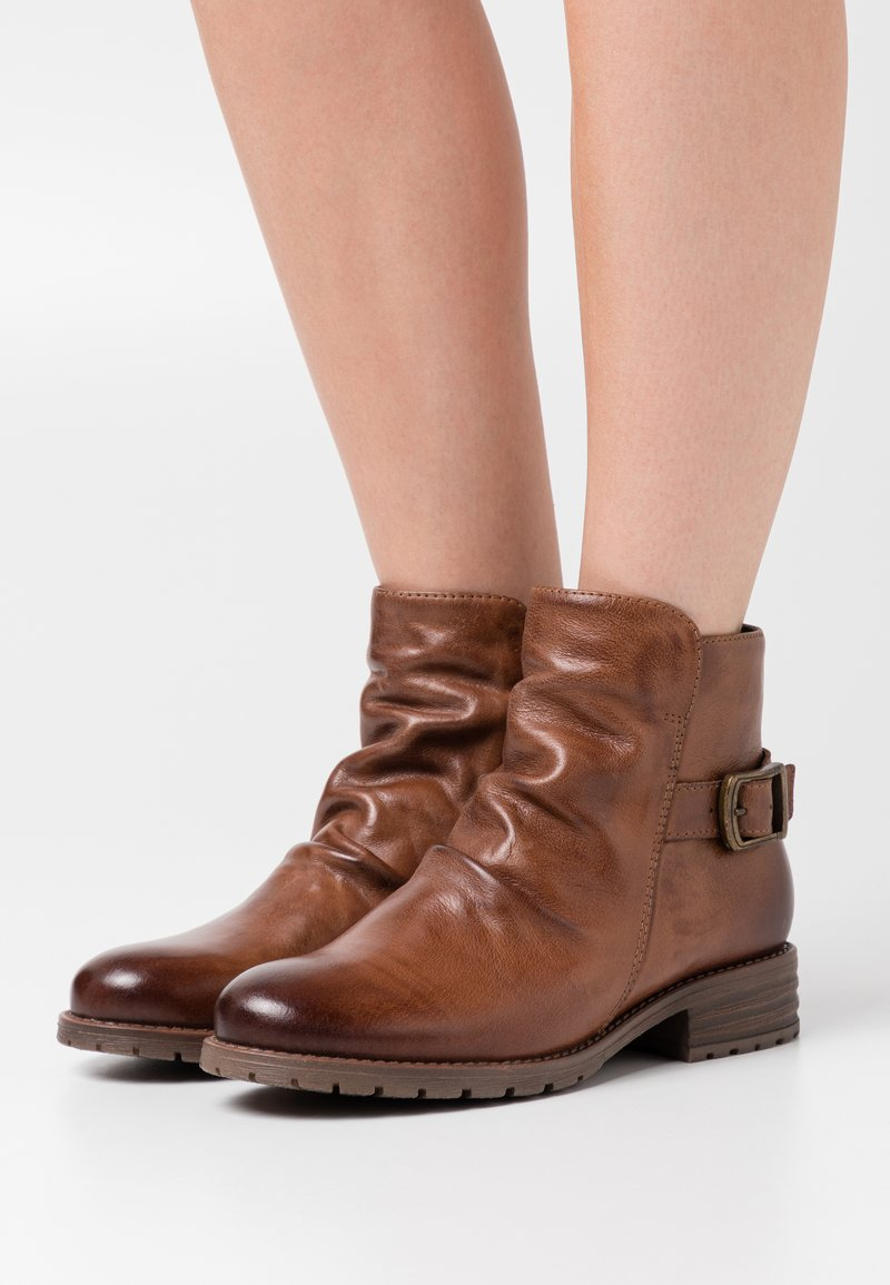 Anna Field - Cowboy/biker ankle boot - brown