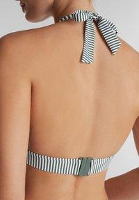 Esprit - MIT STREIFEN - Bikini top - olive - 3