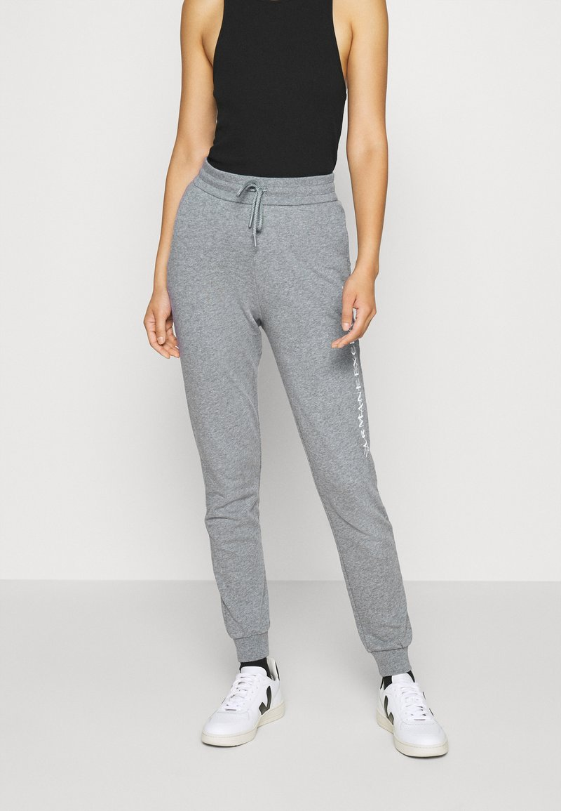 Armani Exchange - TROUSER - Tracksuit bottoms - grey heather