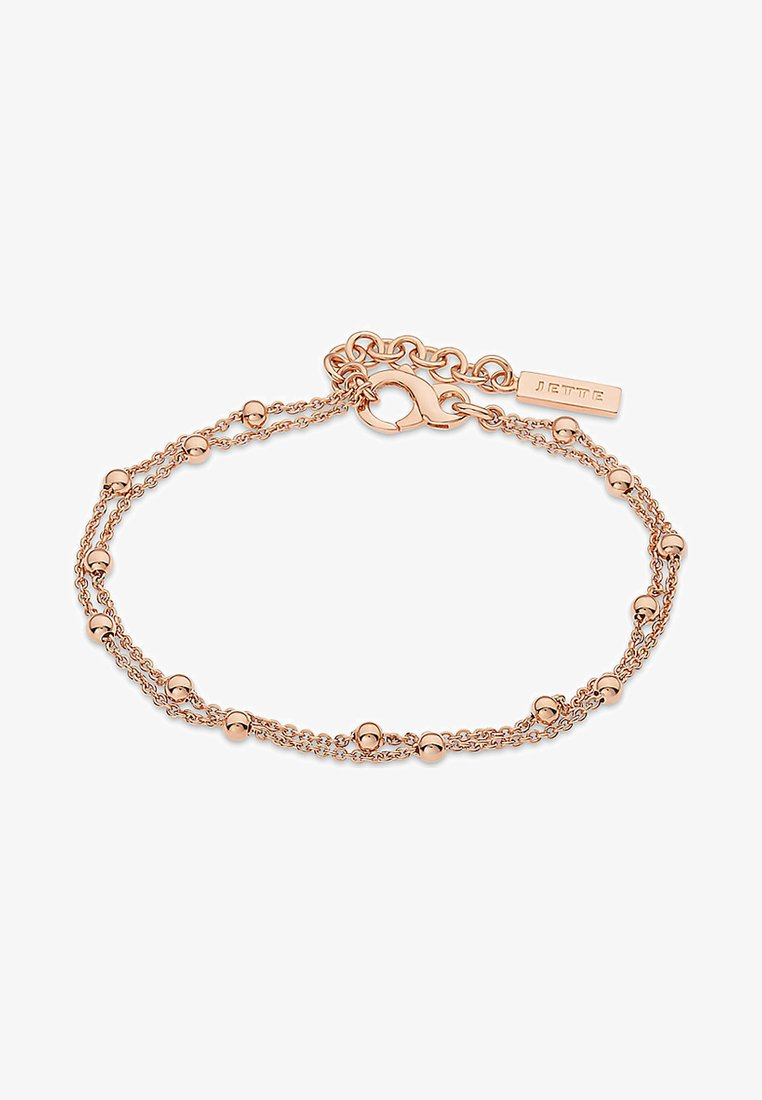JETTE - JETTE SILVER DAMEN-ARMBAND LUCKY CHARM 925ER SILBER - Bracelet - gold-coloured