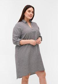 Zizzi - Day dress - black stripe - 0