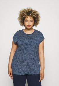 Ragwear Plus - DIONE - T-shirt imprimé - indigo - 0