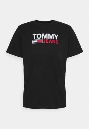 CORP LOGO TEE - Print T-shirt - black