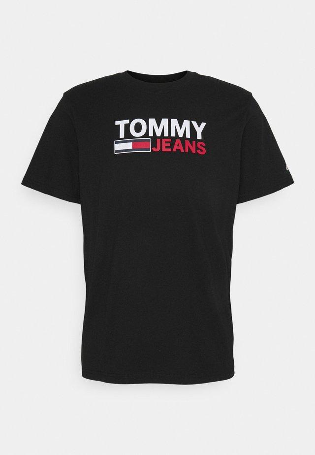 CORP LOGO TEE - T-shirt con stampa - black