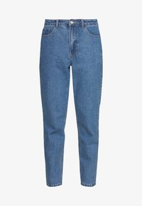 Missguided Petite - RIOT HIGHWAIST PLAIN MOM JEAN - Jeans Skinny Fit - blue - 4