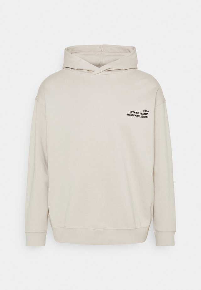 UNISEX HOODY EMBROIDERED - Sweatshirt - dove