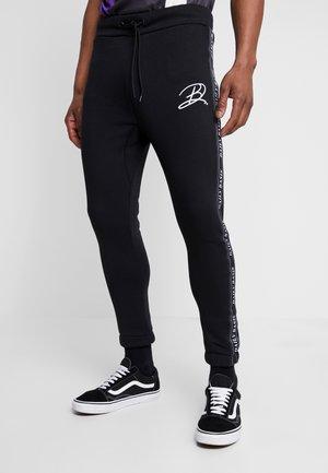 JAQUARD SIDE - Teplákové kalhoty - black