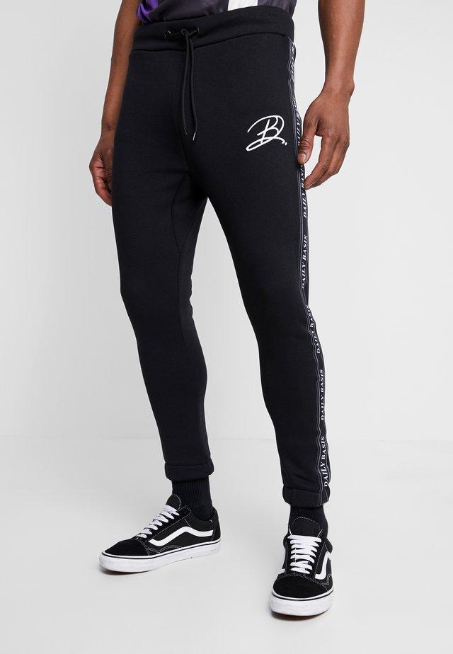 JAQUARD SIDE - Spodnie treningowe - black