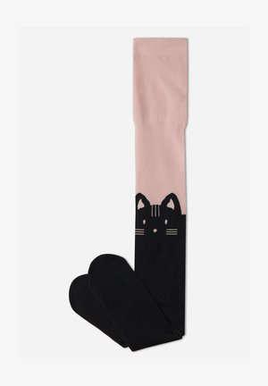 GEMUSTERTE - Tights - rosa- pink cat longuette