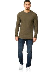 INDICODE JEANS - LONGSLEEVE WILLBUR - Long sleeved top - dark green - 1