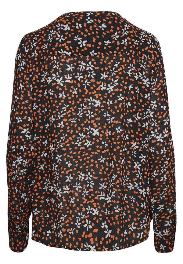 Kaffe Koszula - black, orange flower/wielokolorowy QMVF