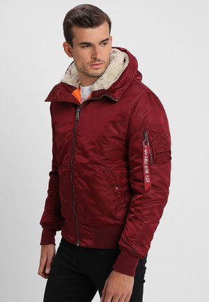HOODED STANDART FIT - Light jacket - burgundy