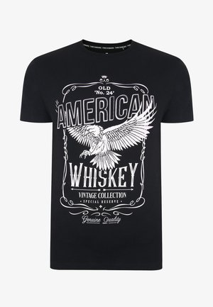 T-shirt imprimé - black slub