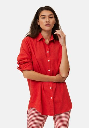 Button-down blouse - red melange