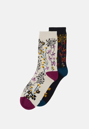 AMICE SOCKS 2 PACK - Calze - midnight blue/vanilla