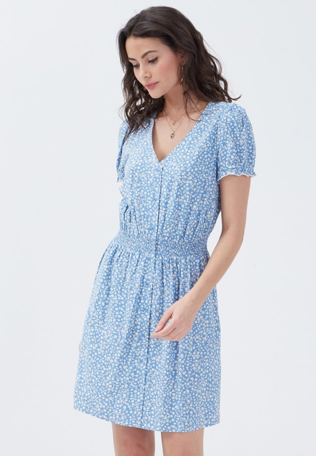 Korte jurk - bleu pastel