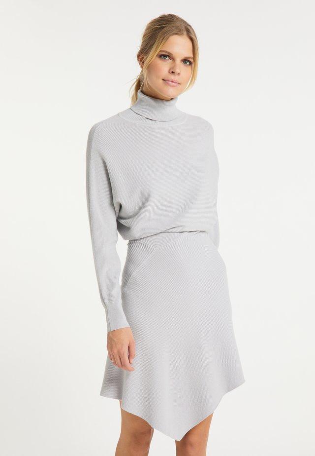 Gebreide jurk - silber