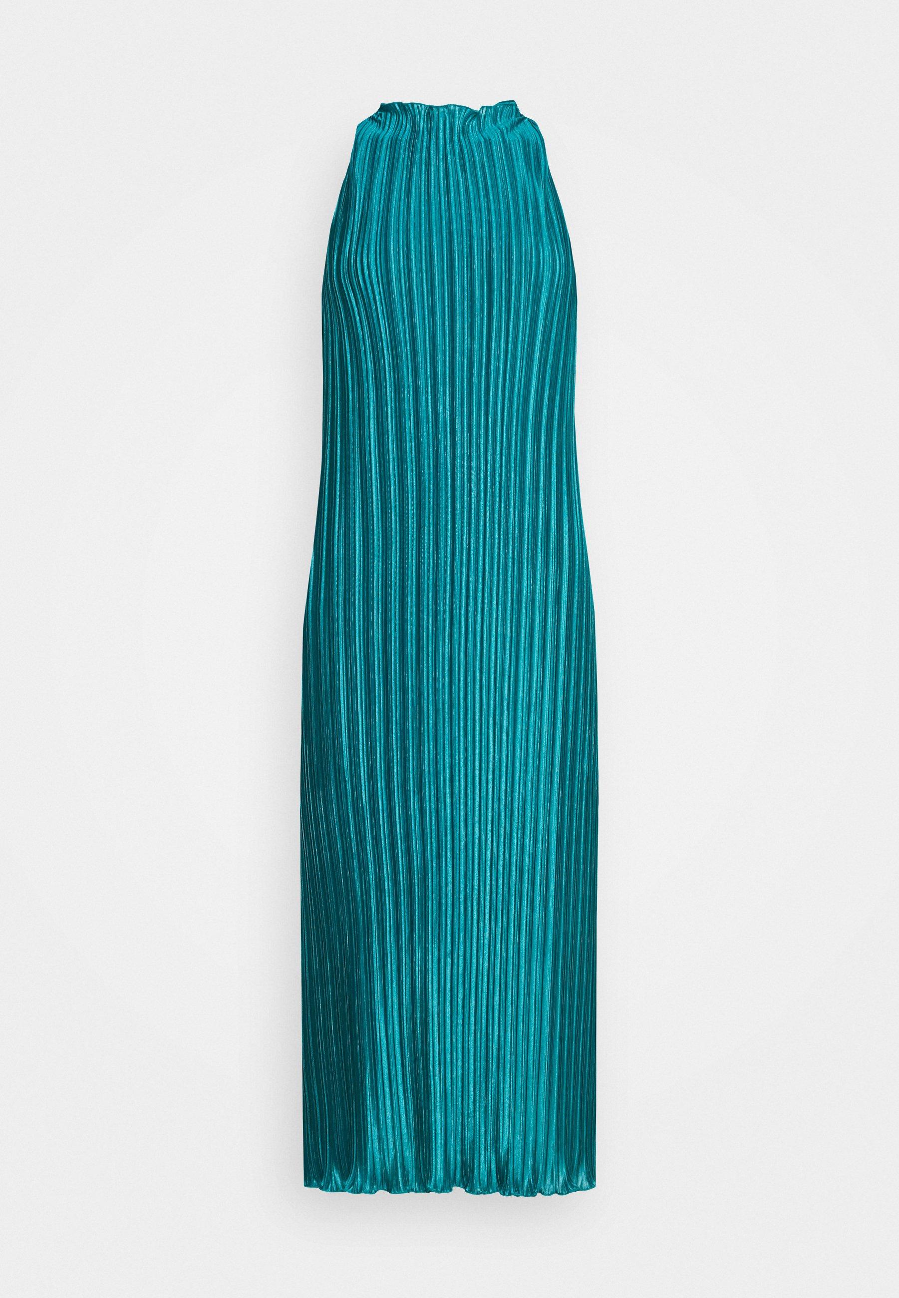 Who What Wear PLISSE DRESS - Ballkjole - emerald