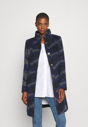 WOLLMANTEL CINDY MIT STEHKRAGEN - Classic coat - midnight blue