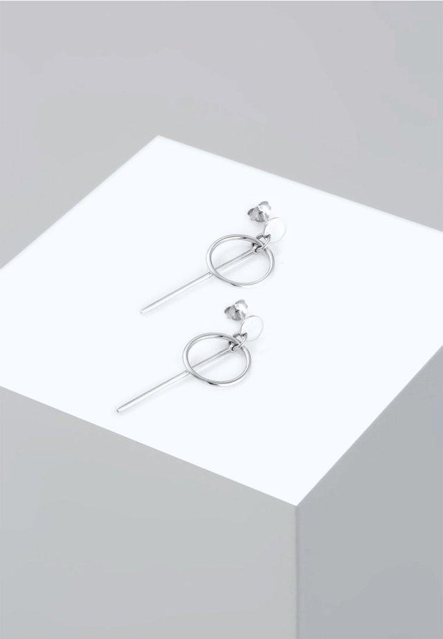 HÄNGER GEO  - Boucles d'oreilles - silver-coloured