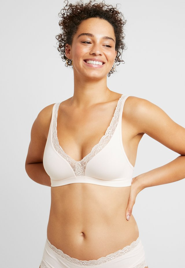 SOFT CUP - Triangle bra - powder