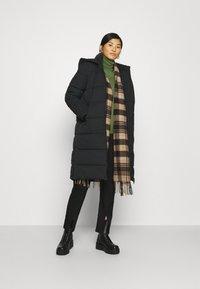Calvin Klein Jeans - PEACHED LONG PUFFER - Winter coat - black - 1