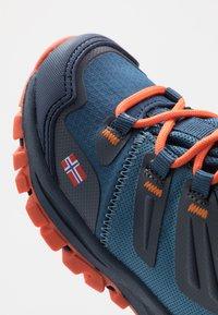 TrollKids - KIDS RONDANE HIKER MID - Hiking shoes - mystic blue/orange - 2