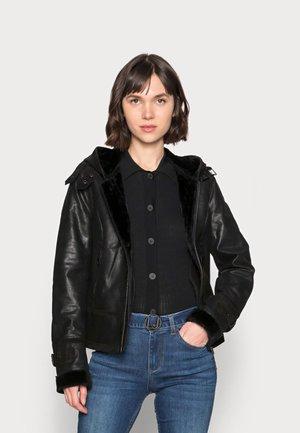 ARCTIC DAY - Leather jacket - black