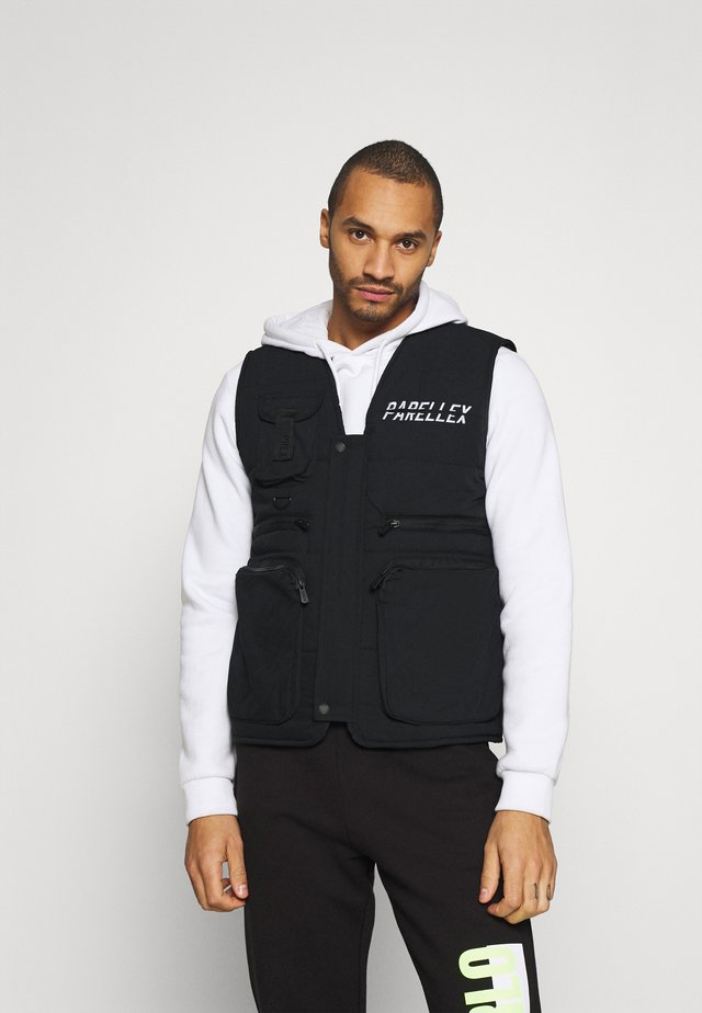 VOSTON UTILITY VEST - Liivi - black/white
