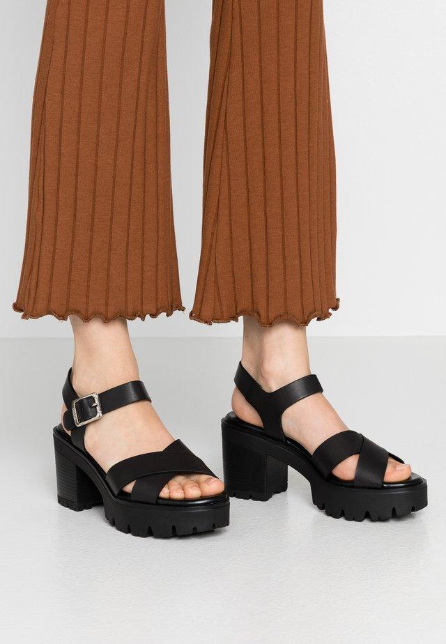SABA - Sandály na vysokém podpatku - black