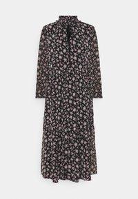 Vero Moda - VMFILIA TIE CALF DRESS - Day dress - black/rose - 6