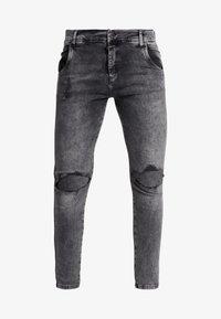 SIKSILK - DISTRESSED SLICE KNEE - Skinny džíny - dark grey - 3