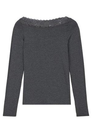 MIT U-BOOT-AUSSCHNITT - Long sleeved top - dark grey mel